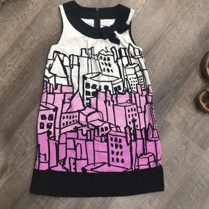 Gymboree building city dress purple black white